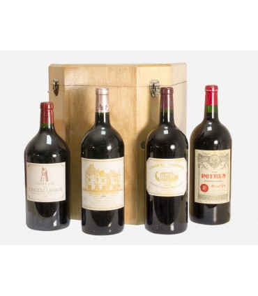 Carré d'As Collection Duclot 2000 (4 double-magnums - Latour/Margaux/Haut-Brion/Petrus)